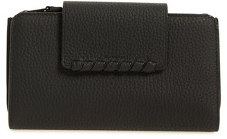 Women's Allsaints Kita Japanese Leather Wallet - Black $118 thestylecure.com