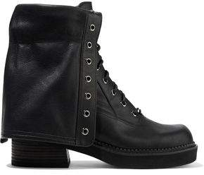 See by Chloe Paneled Leather Ankle Boots