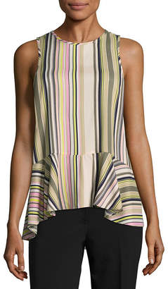 Libby Edelman Sleeveless High Low Blouse
