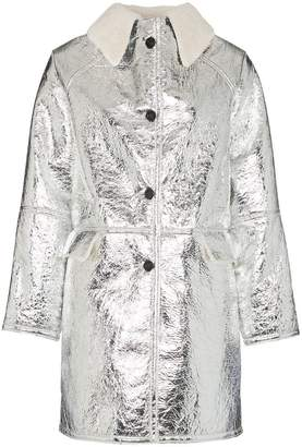Kassl shearling collar button-down coat