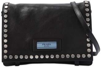 Prada Small Etiquette Studded Shoulder Bag
