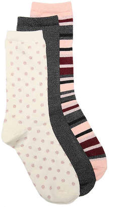 Kelly & Katie Dots Crew Socks - 3 Pack - Women's