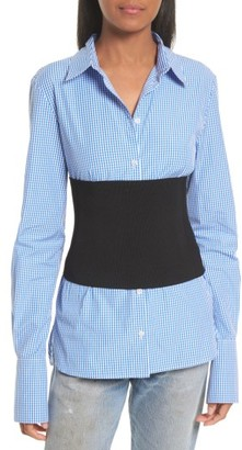 Women's Tibi Rib Knit Tube Corset $350 thestylecure.com