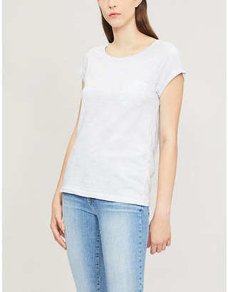The White Company Rolled-cuff cotton-jersey T-shirt