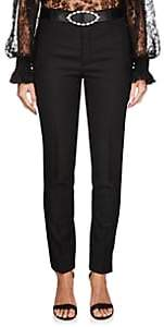 Saint Laurent Women's Virgin Wool Tailored Trousers - Black