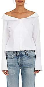 Monographie Women's Cotton Poplin Off-The-Shoulder Blouse - White