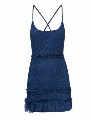 Goodnight Macaroon 'Parisa' Lace Criss Cross Strap Mini Dress