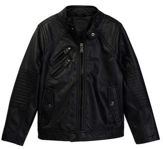 Urban Republic Faux Leather Moto Jacket (Big Boys)
