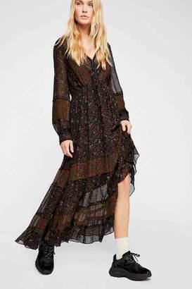Fall Flowers Maxi Dress