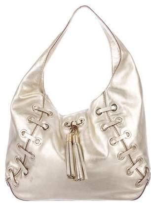 MICHAEL Michael Kors Metallic Leather Hobo