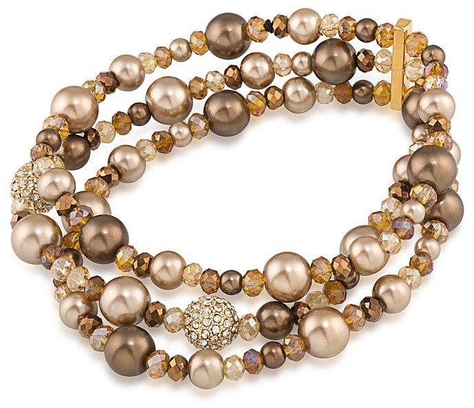CaroleeCarolee Beaded Three-Row Stretch Bracelet