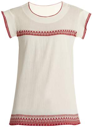 The Great The Needle Point embroidered top