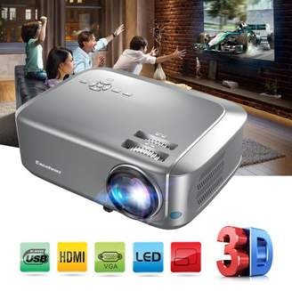 Langria Home Theater Projector Supports Red-blue 3D 1080P Videos HDMI VGA USB Interfaces Dust-proof Net Available