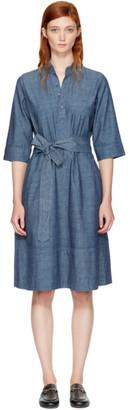 A.P.C. Indigo Oleson Dress $325 thestylecure.com