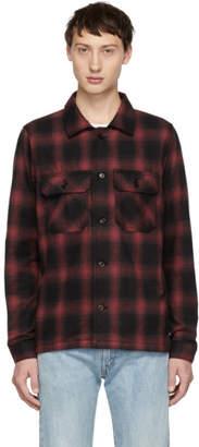 Naked & Famous Denim Denim Red Flannel Lumberjack Shirt