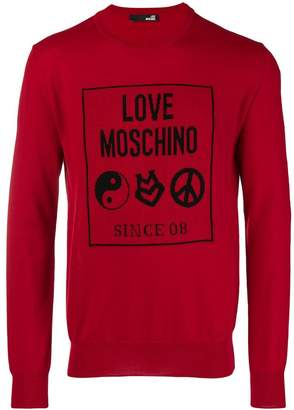Love Moschino intarsia-knit jumper