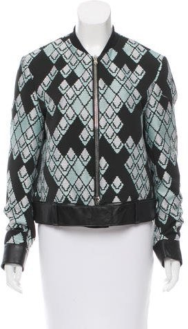 3.1 Phillip Lim 3.1 Phillip Lim Leather-Trimmed Patterned Jacket