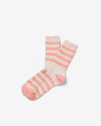 Express Ribbed Stripe Bootie Socks