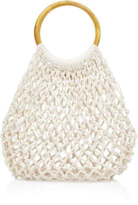Kayu Blake Crocheted Cotton Tote Bag