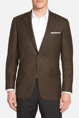 Hart Schaffner Marx New York Classic Fit Check Wool Sport Coat $495 thestylecure.com