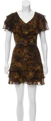 Rachel Zoe Peacock Feather Print Dress