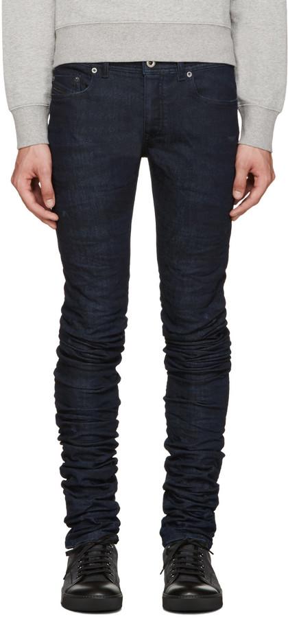 Diesel Black Gold Blue Super Long Jeans