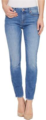 7 For All Mankind The Ankle Skinny w/ Grinded Hem in Adelaide Bright Blue Women's Jeans