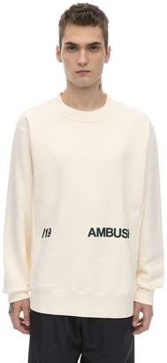 Ambush Print Cotton Jersey Crewneck Sweatshirt