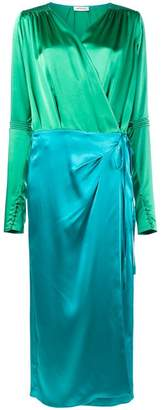 ATTICO wrap-around satin dress