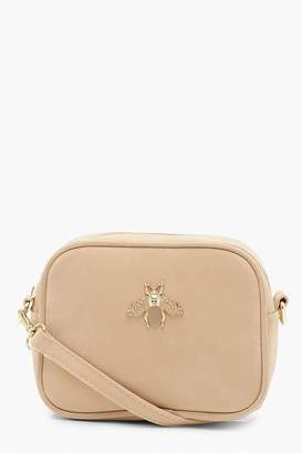 boohoo Metal Bug Crossbody Bag