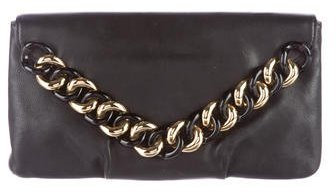 Michael Kors Leather Envelope Clutch