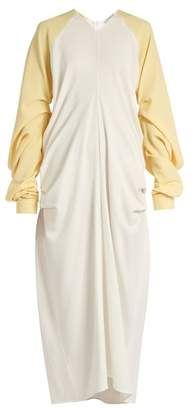 J.W.Anderson Draped Crepe Dress - Womens - Yellow White