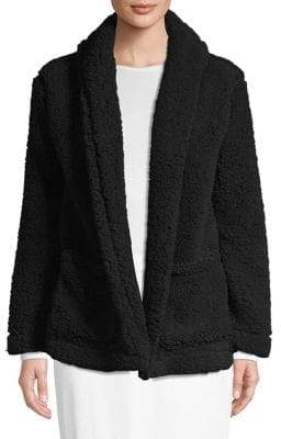 Lord & Taylor Shawl Collar Open-Front Jacket