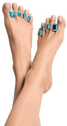 Dip Into Pretty Shine Bright Like a Diamond Silicone Toe Separators 8-Piece Spacers for Home and Salon Pedicures -