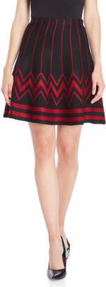Vila Milano Zig Zag Boarder Knit Skirt