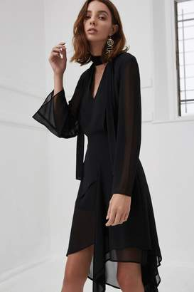 C/Meo COLLECTIVE MAKE IT RIGHT LONG SLEEVE DRESS black