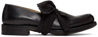 Cherevichkiotvichki Black Pointy Moccasin Loafers