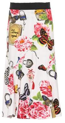 Dolce & Gabbana Floral-printed cotton skirt