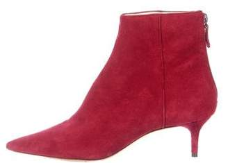 Alexandre Birman Suede Pointed-Toe Ankle Boots