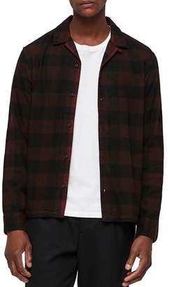 AllSaints Boulder Buffalo Checked Flannel Slim Fit Shirt