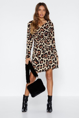 Nasty Gal Belt It in My Heart Leopard Dress