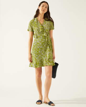 8bcd85dd6a0b Short Sleeve Silk Wrap Dress - ShopStyle UK