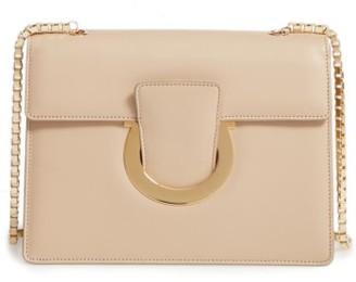 Salvatore Ferragamo Large Thalia Leather Shoulder Bag - Beige $1,250 thestylecure.com