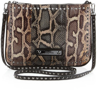 Band Of Outsiders Snake-embossed Spiked Crossbody Bag