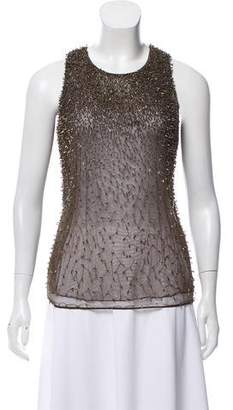 Theyskens' Theory Embellished Mesh Top