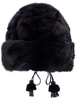 Embellished Mink Hat