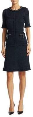Teri Jon by Rickie Freeman Short-Sleeve Sheath Dress