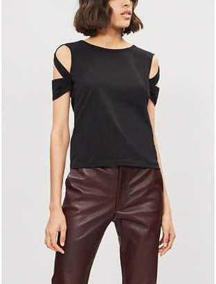 Helmut Lang Cutout cotton-jersey T-shirt