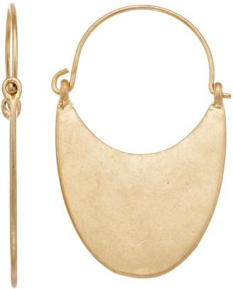 Gold Tone Half Moon Earrings