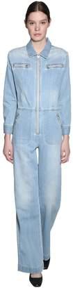 ALEXACHUNG Alexa Chung Cotton Blend Denim Jumpsuit
